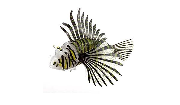 Amazon.com: eDealMax pescado del acuario del tanque de silicona Artificial Menearse cola de pescado ornamento Negro: Pet Supplies