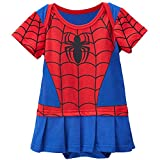 Spidergirl-inspired Infant Caped Outfit (0-6 Months)