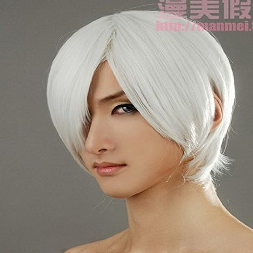 Xcoser DMC Cosplay Dante Short Sliver White Cosplay Wig for Halloween (Devil May Cry Halloween Costumes)