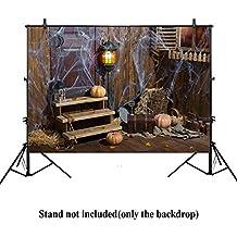 Allenjoy 7x5ft photography backdrop background horror halloween retro old house window door Pumpkin cobwebs barn wooden floors child girl boys props photo studio booth