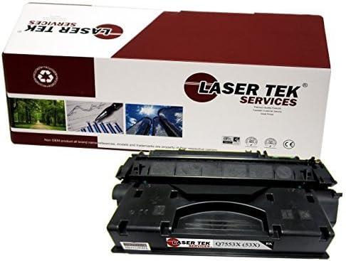 Laser Tek Services Compatible Toner Cartridge Replacement for HP 53A Q7553A Black, 2-Pack