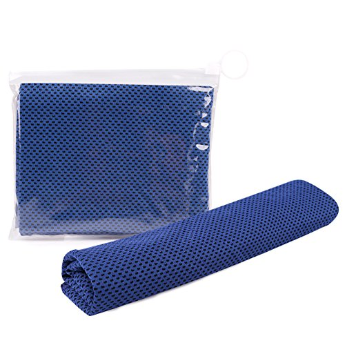 Cooling Towel,Set of 5 Reusable Sweat-Absorbent Sports Towel For Workout, Fitness, Running & Other Sports (blue)