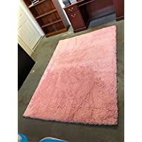 Luxury Home Fashion, Hailey Collection, Ultra Soft Shag Area Rug, Extra High Pile Height (5.3 X 7.5, Rose)