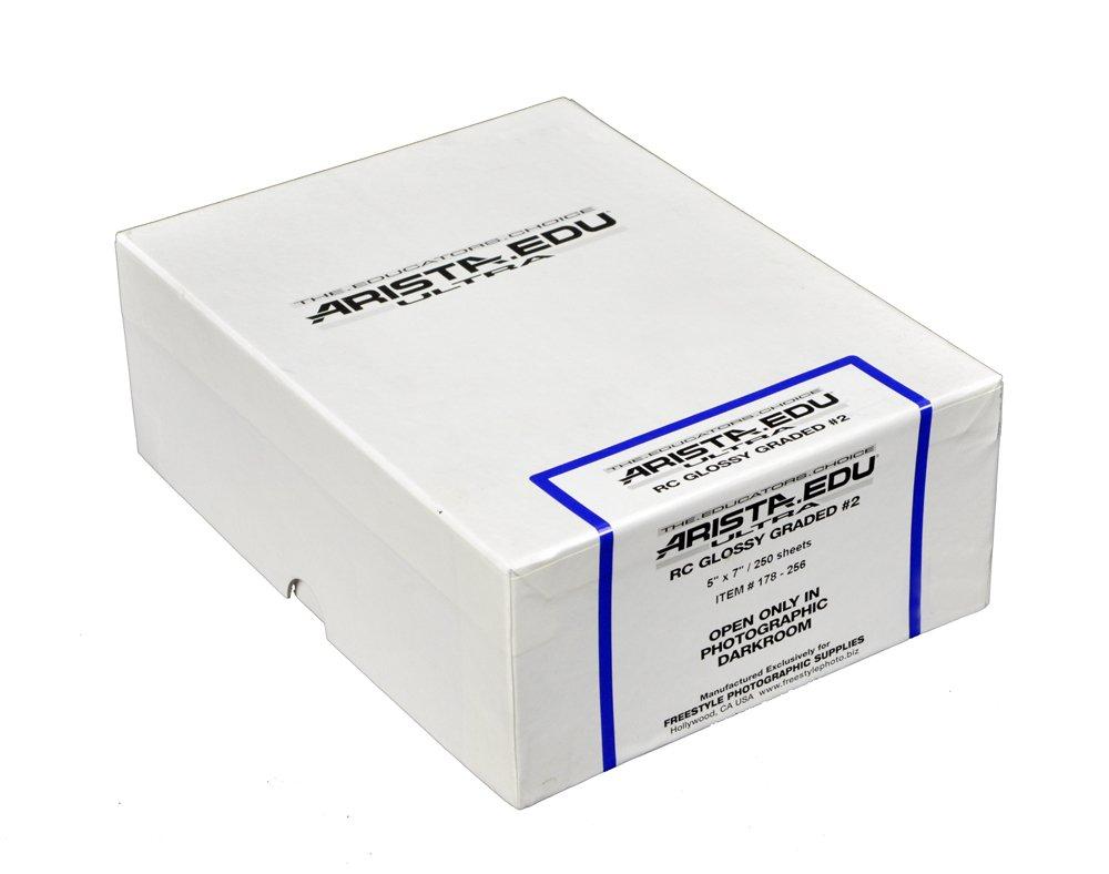 ARISTA 178256 EDU Ultra Black & White Photographic Paper, Glossy #2 5X7, 250 Sheets (Black)
