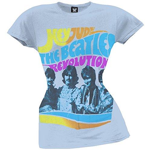 Old Glory The Beatles - Womens Hey Jude Revolution Juniors T-shirt Small Light ()