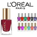 L'oreal Finger Nail Polish Color Lacquer Set 10-Piece All Different Colors No Repeats