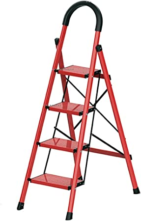 Escalera de Mano Taburete De Paso De Tres Pasos De Cuatro Pasos Temporada De Aleación De Aluminio Escalera Principal De La Fábrica, Supermercado, Al Aire Libre (Color : D): Amazon.es: Hogar