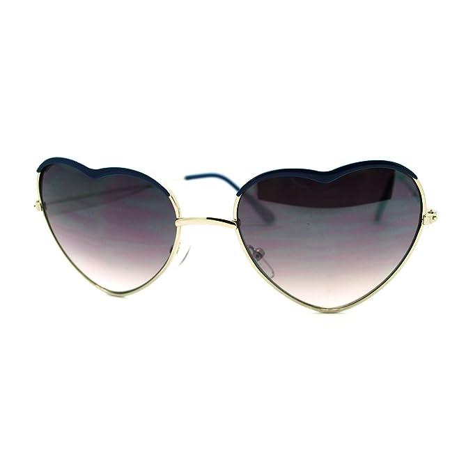 Amazon.com: Forma de Corazón anteojos de sol Cute Color ...