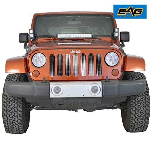 EAG Chrome Billet Grille for 07-18 Jeep Wrangler JK