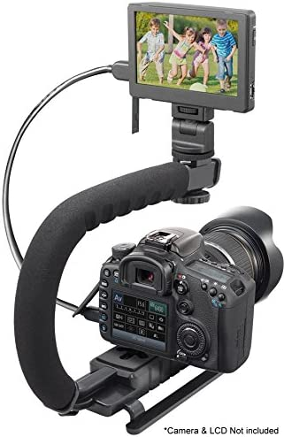 Pro Video Stabilizing Handle Grip for Panasonic Lumix DMC-FX90 Vertical Shoe Mount Stabilizer Handle