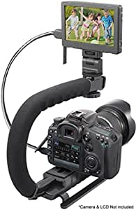 Pro Video Stabilizing Handle Grip for Panasonic Lumix DMC-FS12 Vertical Shoe Mount Stabilizer Handle