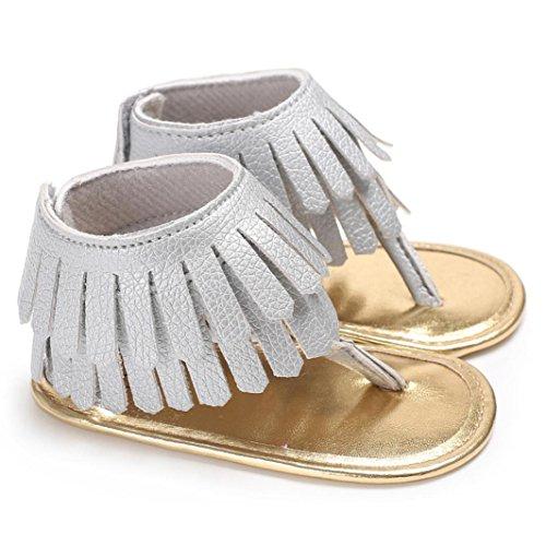 Huhu833 Babyschuhe, Kleinkind Mädchen Krippe Schuhe Neugeborenen Blume Weiche Sohle Anti-Rutsch Baby Turnschuhe Sandalen Grau