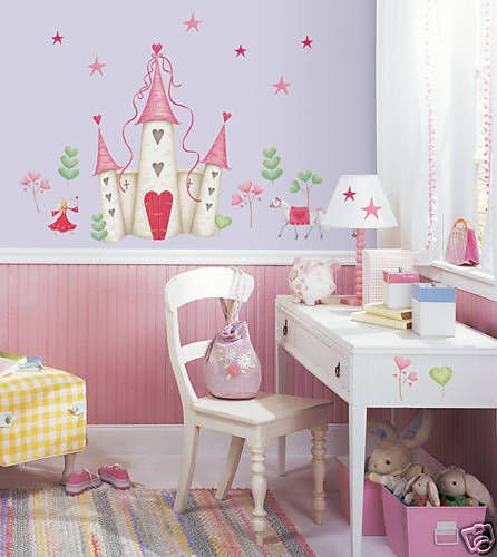 Princess Castle Giant Wall Mural Appliques Stickers