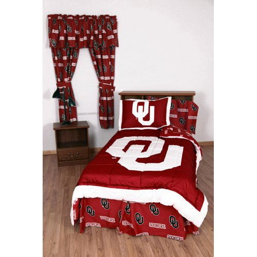 College Covers Oklahoma Sooners Bed in a Bag Twin - With Team Colored Sheets (Sooners Full Comforter Oklahoma)