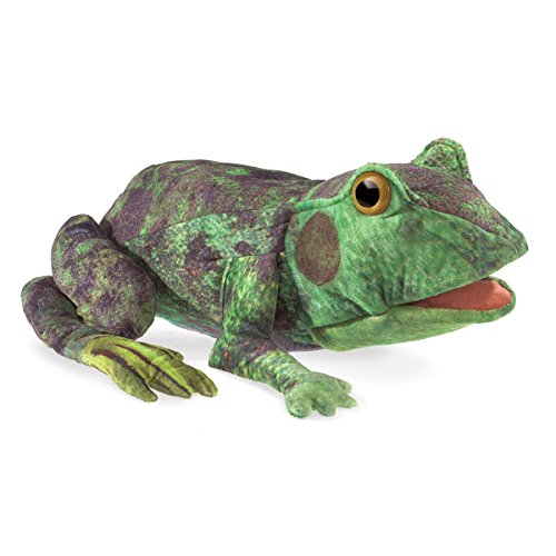 Folkmanis Frog Life Cycle Hand Puppet, Green, 8