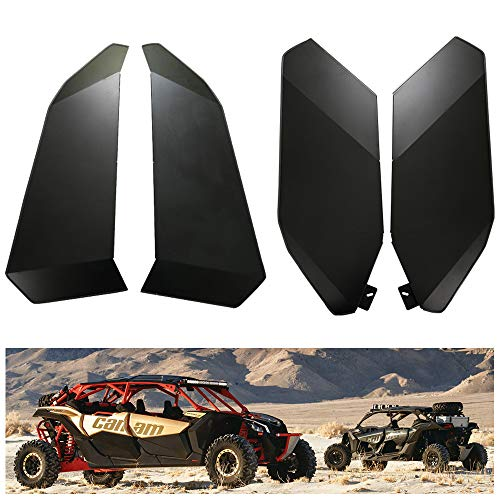 Door Four - KIWI MASTER Lower Half Door Inserts Panels Compatible for 2017-2019 Can Am Maverick X3 MAX XDS XRS/R TURBO 4-Door Aluminum