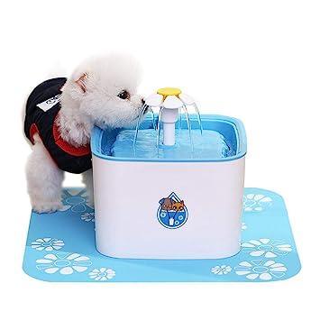 AUOKER Bebedero Gatos, 2.5L Dispensador de Fuente de Agua para Mascotas, Silenciosa Eléctrico