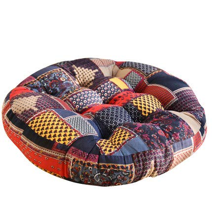 XMZFQ Cotton & Linen Round Floor Pillow Cushion 22 Inch Thicken Pillow Seat Cotton Chair Pad Tatami Floor Cushion for Yoga Meditation by XMZFQ