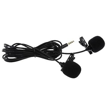 SM SunniMix micrófono Corbata de Doble Cabeza Corbata Corbata ...