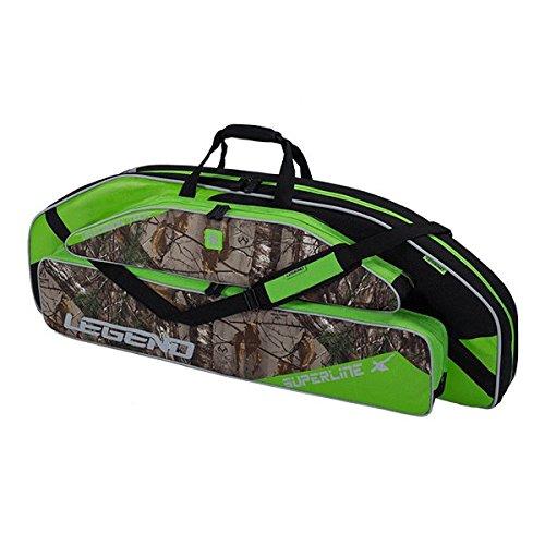 Legend Archery Superline Compound Bow Case - Backpack Shoulder with Straps - Inside Length 44'' (Green/Realtree)