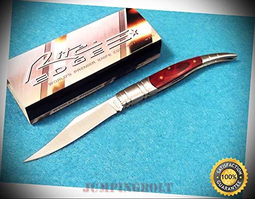 210663-4 Spanish Toothpick Rich grain wood folding knife 4''