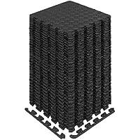 Yes4All Interlocking Exercise Foam Mats with Border - Interlocking Floor Mats for Gym Equipment - Eva Interlocking Floor…