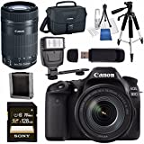 Canon EOS 80D DSLR Camera with 18-135mm IS USM Lens + Canon EF-S 55-250mm Lens + Canon 100ES EOS Shoulder Bag Bundle