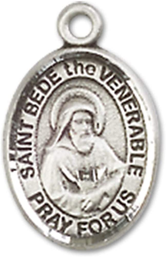 Made In USA 18 Chain Bede the Venerable Pendant Bede the Venerable Pendant Jewels Obsession St Sterling Silver St
