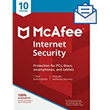 McAfee Internet Security - 10 Devices [Activation Card by Mail]