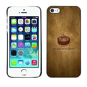 LECELL--Funda protectora / Cubierta / Piel For iPhone 5 / 5S -- Cake Chotolate Cumpleaños --