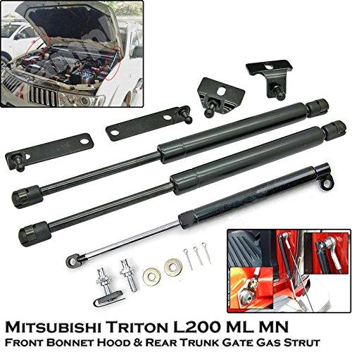 Front Bonnet & Rear Trunk Gas Shock Strut Damper Lift Supports Fit Mitsubishi Triton L200 ML MN 05-14