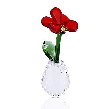 Amazon.com: Hophen - Atrapasueños de cristal con flor de ...