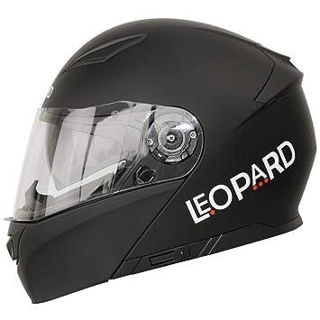 Leopard LEO-888 DVS - Casco modular de motocicleta con visera doble, con visor