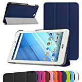 Acer Iconia One 8 B1-850 Slim Shell Case,Mama Mouth Ultra Slim Lightweight 3-folding PU Leather Standing Cover For 8