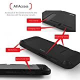 Insten Nintendo Switch Soft Silicone Case [Anti-Slip] [Lightweight] [Slim Fit] Protective Skins Case Cover For Use On Nintendo Switch Console with Joy-Con Attached, Black