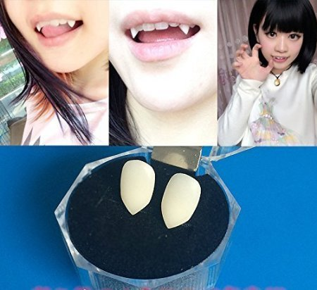 KISENG Halloween Party Cosplay Prop Decoration Vampire Tooth Horror False Teeth Small Size (13mm) by (Halloween Props Party City)