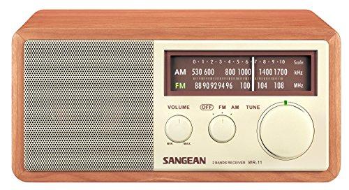 Sangean WR-11 Wood Cabinet AM/FM Table Top Analog Radio (Renewed) Am Wood Cabinet Radio