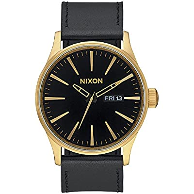 Nixon Men's A105 Sentry 42mm Stainless Steel Leather Quartz Movement Watch from Nixon