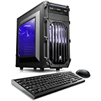 CybertronPC Palladium 950Z Gaming PC - Intel i7-7700k 4.2GHz Quad-Core, 16GB DDR4, NVIDIA GTX 1050, 1TB/8GB Solid State Hybrid, DVDRW, Windows 10 Home