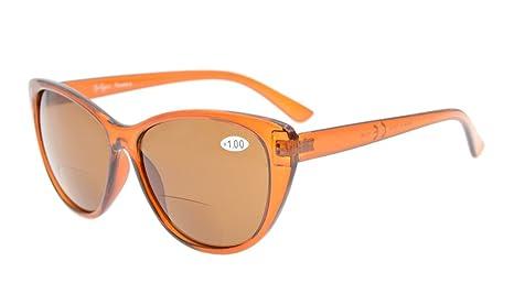 Eyekepper ojo gato Gafas de sol Bipolares para Mujer marron lentes +3.0
