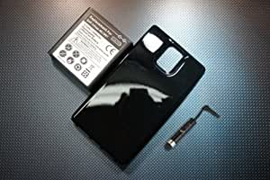 3500mAh Extended Battery For Samsung Infuse 4G / i997 + Glossy Black Extended Case Cover + Universal Touch Screen Stylus Pen