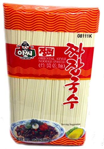 (Assi Brand Oriental Style Noodle (Pasta) Dried Noodles, Jjajang, Net WT: 4 LBS (1.8kg) (1-pack))