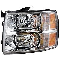 Chevy Silverado 1500 2500 3500 Hd 07 - 12 Lámpara de luz principal con bombilla Lh 25962804