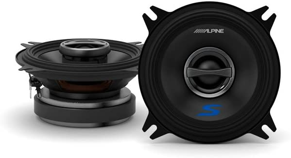 Alpine S S40 10 Cm 4 Zoll 2 Wege Koaxial Lautsprechersystem Auto