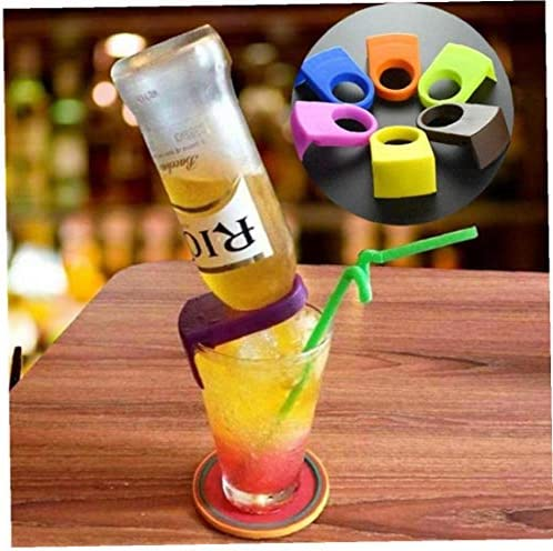 6pcs Wine Bar Cocktail Flasche Schnalle Bier Cocktail Bar Drink Snap-Clips Flaschenhalter Bar Küchenzubehör Küchenhelfer