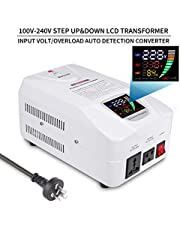 Auto Step Up Down Voltage Transformer Converter 110-120 to 220-240 Volts with LCD Digital Display LED Indicator 200 220 230 to 100v 110v 120v AC - 3000W
