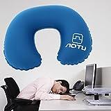 Neck Pillow - OUTAD Premium Ergonomic Neck Support Pillow -Ultralight U-Shaped Travel Pillow , Airplane Rest Pillow - Designed for Airline, Bus, Car, Train - Dark Blue