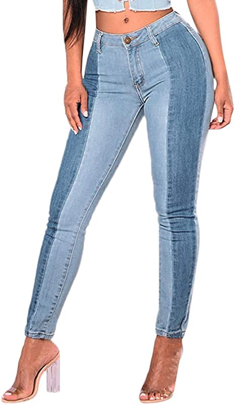 Hahashop2 Pantalones Vaqueros Ajustados Para Mujer Estrechos Estrechos Estilo Venus Gen Color Azul Claro Fino Xxxl Azul Claro Amazon Es Grandes Electrodomesticos