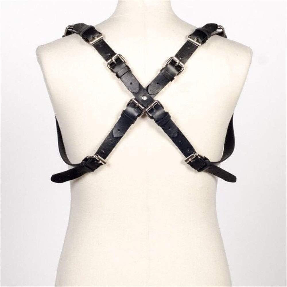 Cinturón de arnés de cuero punk Cuero ajustable masculino Cuerpo ...