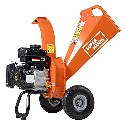"SuperHandy Mini Wood Chipper Shredder Mulcher Ultra Duty 7 HP 212cc Gas Powered 3"" Inch Max Wood Capacity EPA/CARB Certified Aids in Fire Prevention/Building Firebreaks (Amazon Exclusive only for USA)"